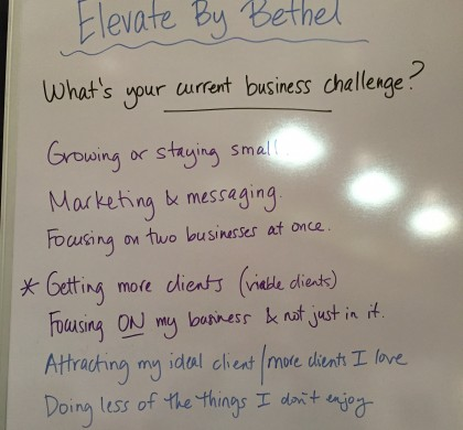 What's your current business challenge?